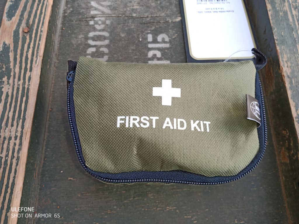 EÜ. Csomag, First Aid Kit Mini, Olive Tokkal