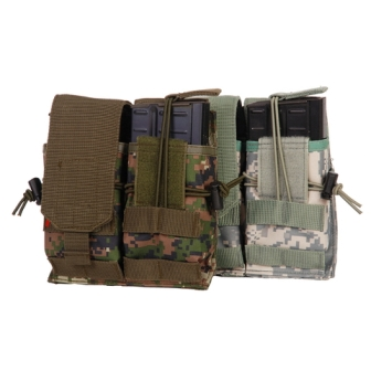 M4 Tárzseb dupla, open top fedeles, MOLLE